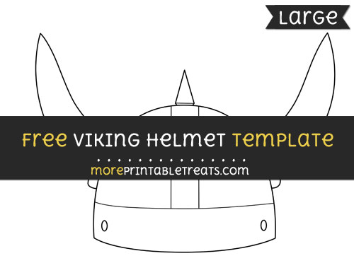 Free Viking Helmet Template - Large