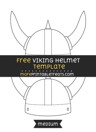 Free Viking Helmet Template - Medium