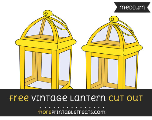 Free Vintage Lantern Cut Out - Medium Size Printable