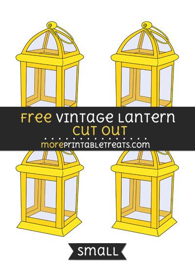 Free Vintage Lantern Cut Out - Small Size Printable