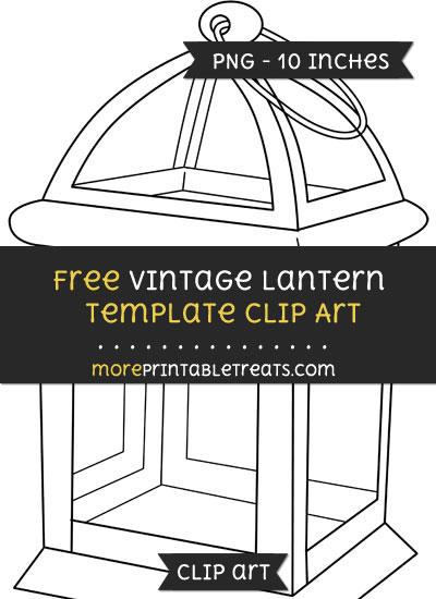 Free Vintage Lantern Template - Clipart
