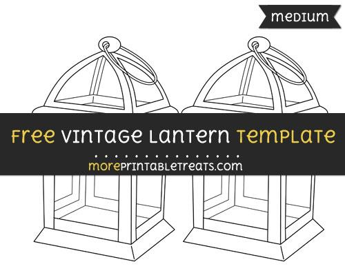 Free Vintage Lantern Template - Medium