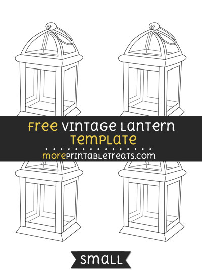 Free Vintage Lantern Template - Small