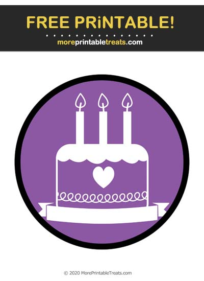 Free Printable Violet Blank Text Birthday Icon Cut Out
