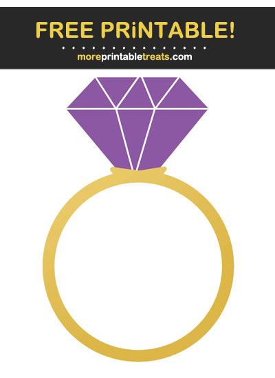 Free Printable Violet Purple Engagement Ring