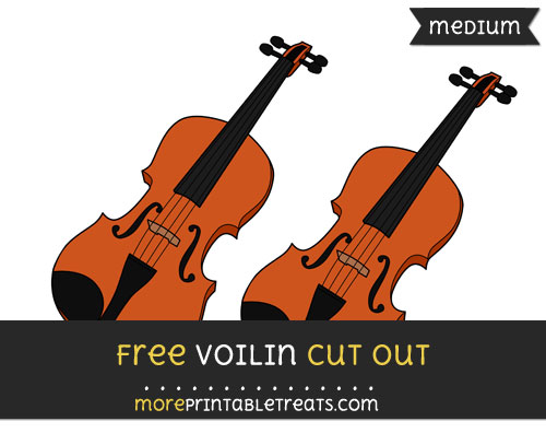 Free Violin Cut Out - Medium Size Printable