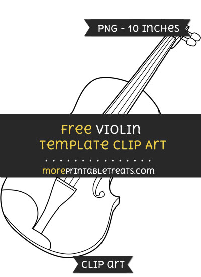Free Violin Template - Clipart