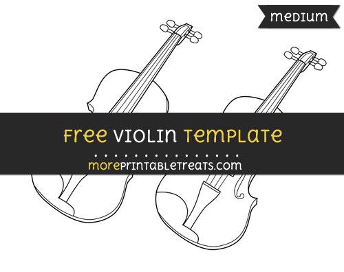 Free Violin Template - Medium