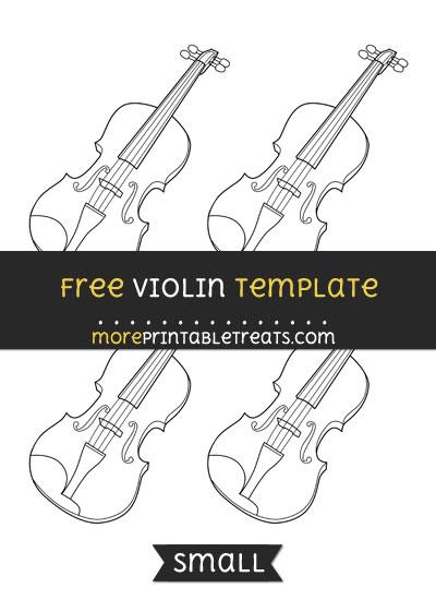 Free Violin Template - Small