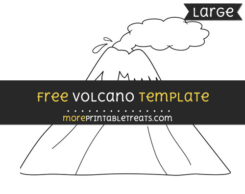 Free Volcano Template - Large