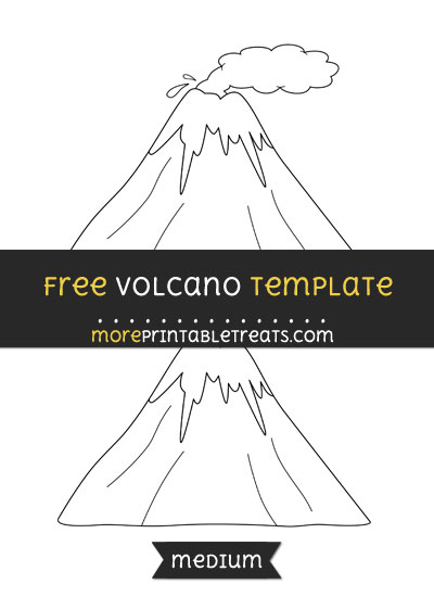 Free Volcano Template - Medium