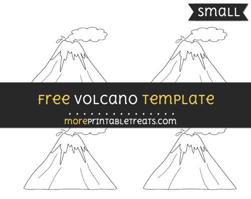 Free Volcano Template - Small