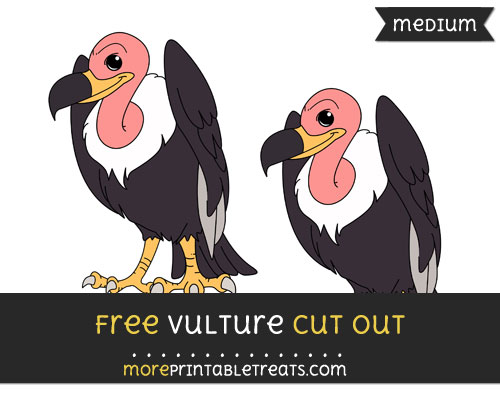 Free Vulture Cut Out - Medium Size Printable