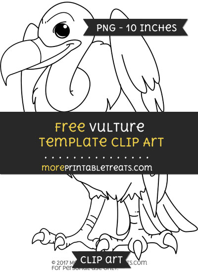 Free Vulture Template - Clipart