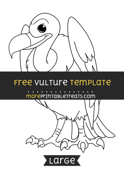 Free Vulture Template - Large
