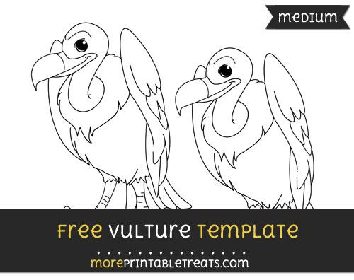 Free Vulture Template - Medium