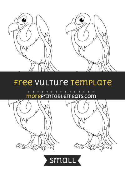 Free Vulture Template - Small