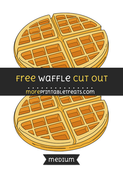 Free Waffle Cut Out - Medium Size Printable