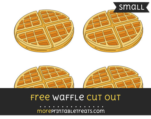 Free Waffle Cut Out - Small Size Printable