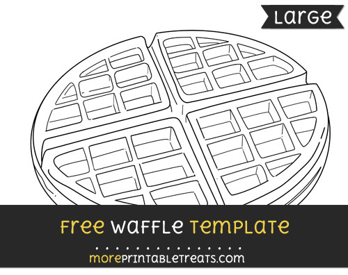 Free Waffle Template - Large