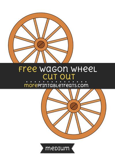 Free Wagon Wheel Cut Out - Medium Size Printable