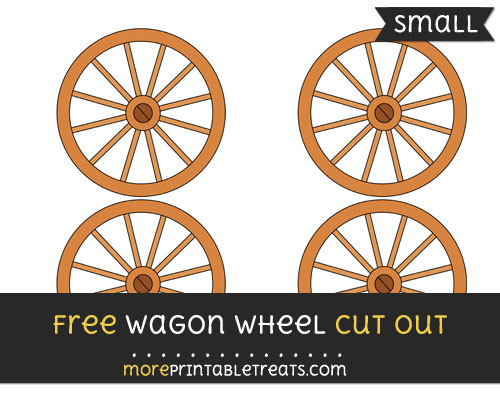 Free Wagon Wheel Cut Out - Small Size Printable
