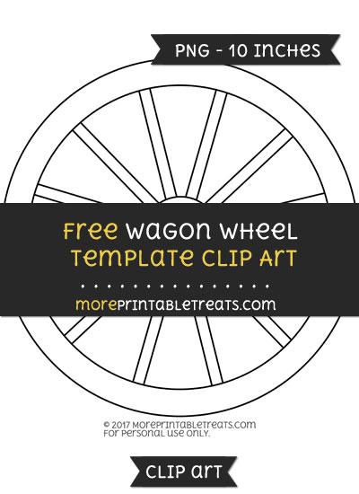 Free Wagon Wheel Template - Clipart