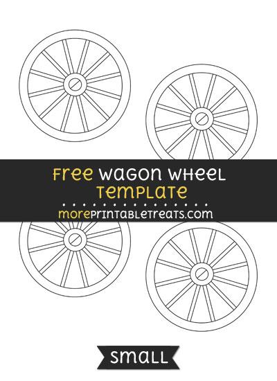Free Wagon Wheel Template - Small