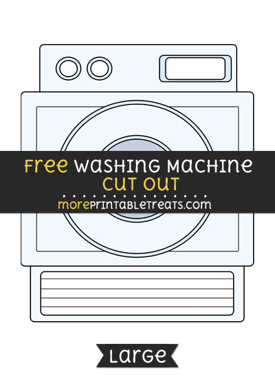 Free Washing Machine Cut Out - Large size printable