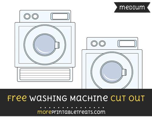 Free Washing Machine Cut Out - Medium Size Printable