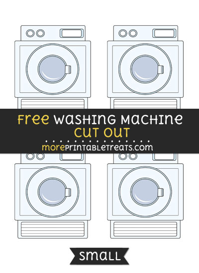 Free Washing Machine Cut Out - Small Size Printable
