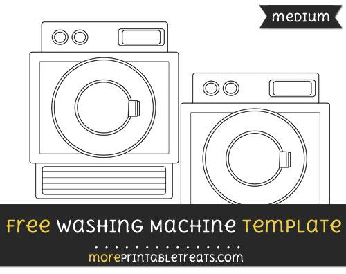 Free Washing Machine Template - Medium