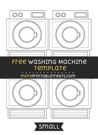 Free Washing Machine Template - Small