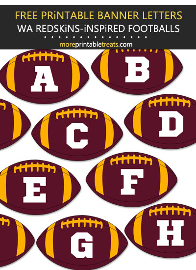 Free Printable Washington Redskins-Inspired Football Alphabet