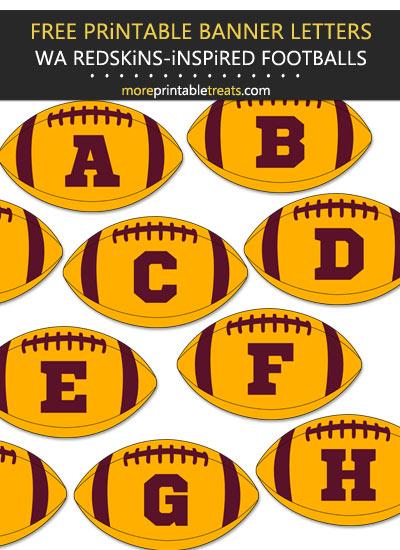 Free Printable Washington Redskins-Inspired Football Bunting Banner