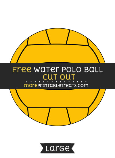 Free Water Polo Ball Cut Out - Large size printable
