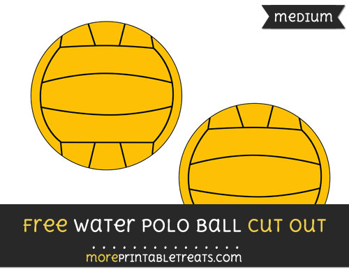 Free Water Polo Ball Cut Out - Medium Size Printable