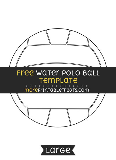 Free Water Polo Ball Template - Large