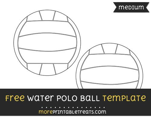 Free Water Polo Ball Template - Medium