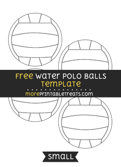 Free Water Polo Ball Template - Small