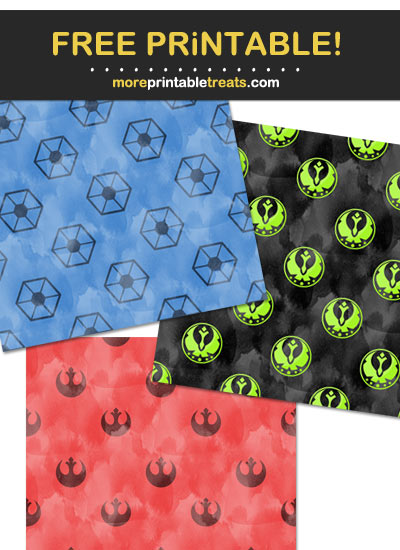 Free Printable Watercolor-Style Star Wars Theme Paper