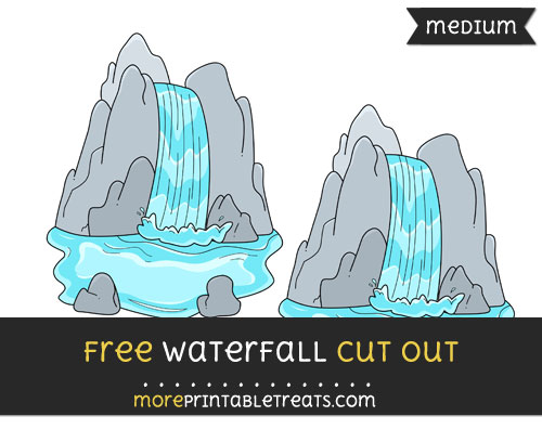 Free Waterfall Cut Out - Medium Size Printable