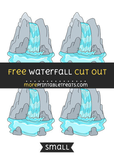 Free Waterfall Cut Out - Small Size Printable