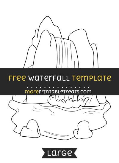 Free Waterfall Template - Large