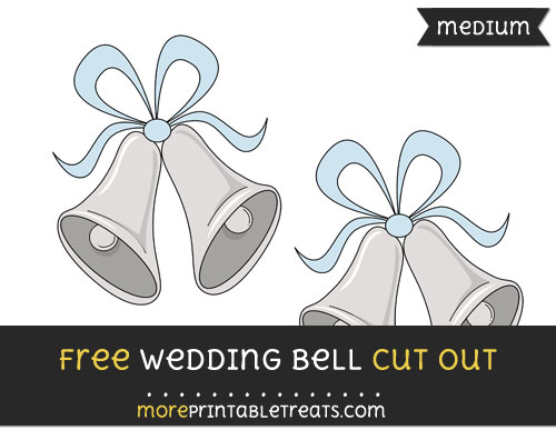 Free Wedding Bells Cut Out - Medium Size Printable