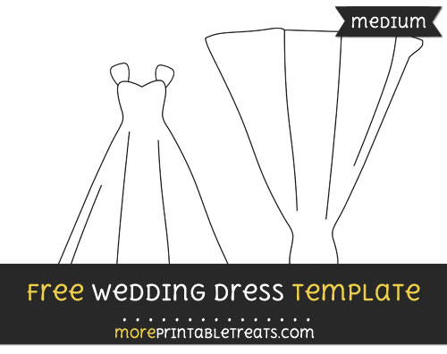 Free Wedding Dress Template - Medium
