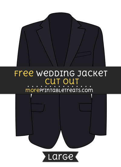 Free Wedding Jacket Cut Out - Large size printable