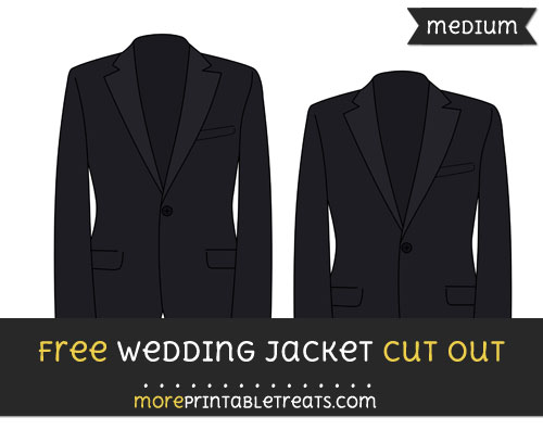Free Wedding Jacket Cut Out - Medium Size Printable