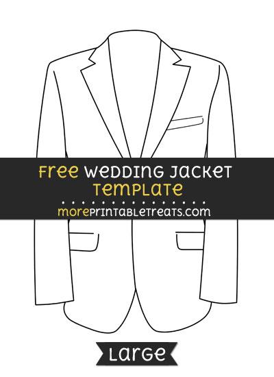 Free Wedding Jacket Template - Large