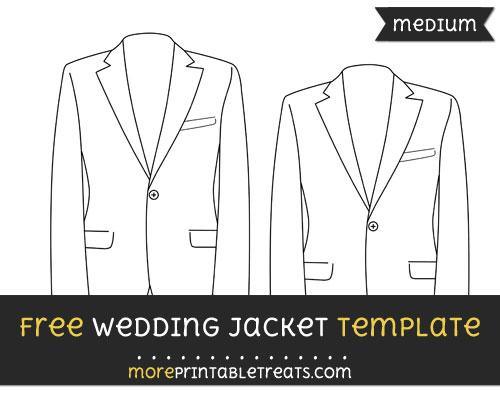 Free Wedding Jacket Template - Medium